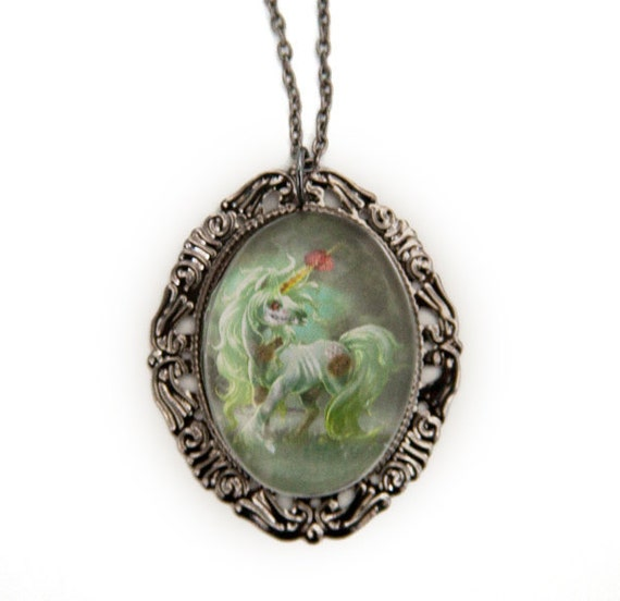 Zombie Unicorn Necklace