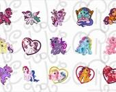 My little pony(2) bottle cap digital image sheet