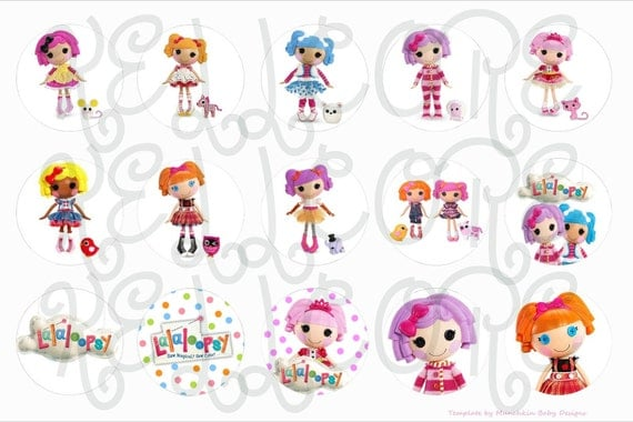 Lalaloopsy(2) bottle cap digital image sheet