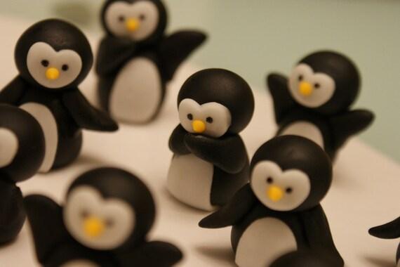 Penguin Cupcake Topper