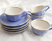 vintage french espresso cups,  french cups, vintage cups, vintage french cups, lilac
