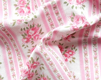 1930's fabric vintage french fabric quilting fabric antique fabric pink roses french fabric antique pink fabric 199