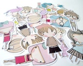 Cute Girls Stickers