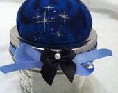Pin Cushion Jar - Night Time Stars