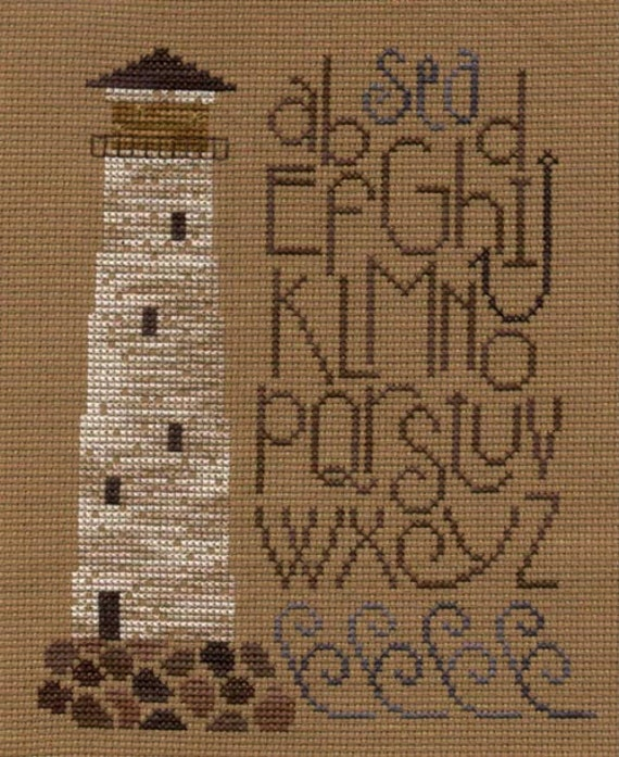Bent Creek Cross Stitch Chart, The Lighthouse, OOP, Out of Print Sampler, Light House