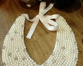 Pearls and Crystals collar necklace