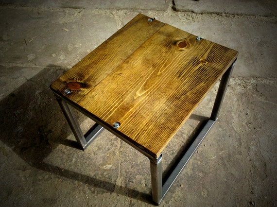 Upcycled Wood and Metal Table