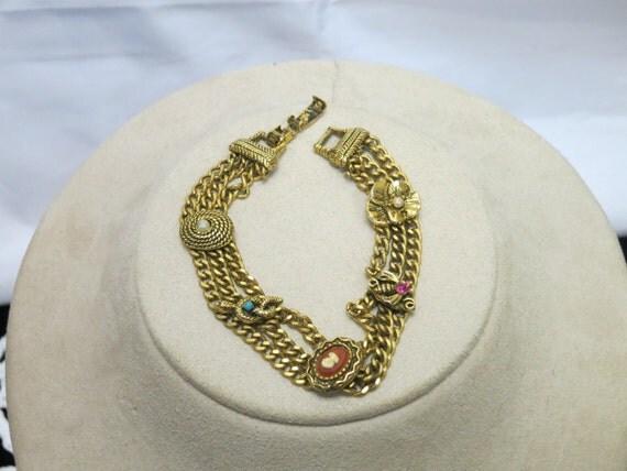 reserved Vintage Signed Goldette  1970 Bracelet