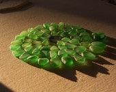Sea glass or beach glass from Malibu, island green assortment.