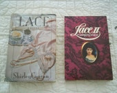 """1982 """"Lace"""" and 1985 """"Lace  II"""" by Shirley Conran. Both hard copies with dust jackets"""