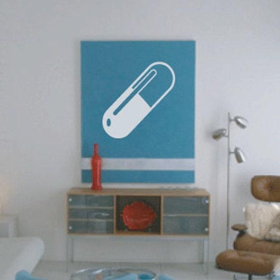Retro Pill Decal