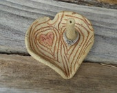 Personalized Wood Grain Ring Holder