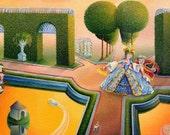 "Original Oil Painting  ""Summer Garden"""
