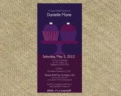 Cupcake Bridal Shower Invitation