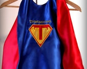Toddler Personalized  Reversible Small Ages 1-2 Superhero Cape