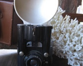 Vintage Brownie camera with flash reflector