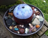 OOAK Purple Sphere Porcelain Stoneware Ceramic Water Fountain