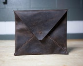 Hand Sewn Leather Envelope Portolio