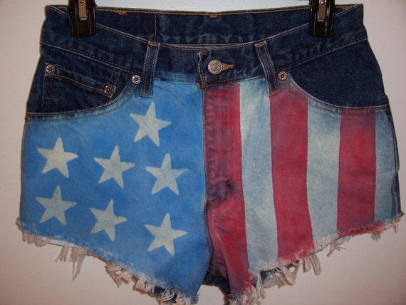 Vintage High Waisted American Flag Levis