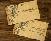 Double Sided premade VINTAGE BUSINESS CARD design, custom