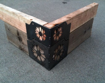 2 by 10 Planter box Corner Brackets