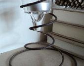 Industrial Metal Spring Tea-Light Holder