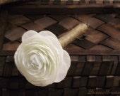 Wedding Guest Book Pen Personalized Wedding Decor Shabby Chic (Ranunculus)