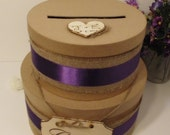 2 Tier Rustic Shabby Chic Wedding Card Box ,Wedding Card Box Custom Card Box Money Card Box Wedding Card Holder