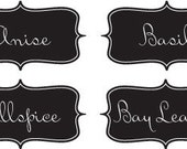 Custom Vintage Inspired Spice and Herb Labels - 2 Digital Collage Sheets