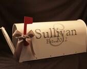 Wedding Mailbox- Card Box - Standard USPS size - White - Both Sides Decorated