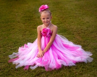 hot-pink, pink TuTu dress, girl tutu dress baby TuTu ,flower girl , perfect for pictures. available all kinds size