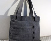 Customizable Medium Tote Bag with Decorative Straps -- Choose Your Color