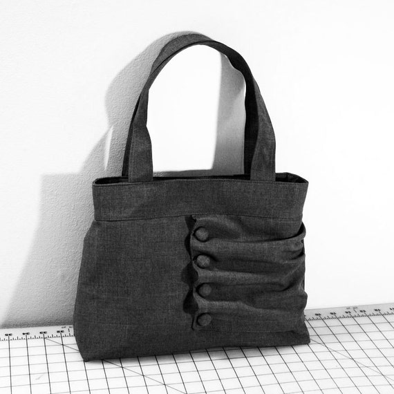 Customizable Ruffled Flap Handbag with Buttons -- Choose Your Color