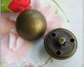Metal buttons-Clothing Accessories DIY Metal Buttons Mushrooms hollow buttons,six sizes can be chosen 15mm(10pcs,0.6'')
