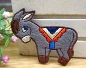 Embroidery Applique -(1pcs)Cute little donkey cloth paste , DIY beautiful accessories,the children's favorite