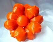 Vintage Flower Orange Brooch