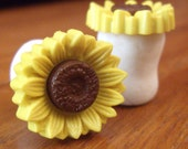 Sunflower Plugs 2g 0g 00g 7/16 1/2 9/16 5/8