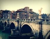 Bridge - Rome Italy - Roma - Europe - 5x7 Fine Art Photograph