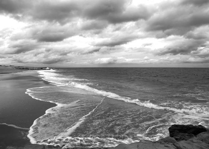 Nature Photography Black and White Ocean by LisaBonowiczPhotos