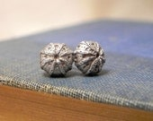 Anemone Silver Stud Earrings-Quote Inspired Jewelry