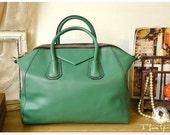 Leather Tote Bag - Shoulder Bag - Handbag - Satchel - Briefcase in Mint Green