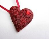 Red heart for Karen. Custom order.
