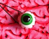 Eyeball necklace ( green iris )