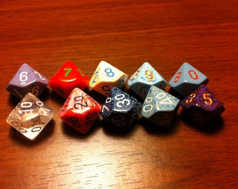 10 Sided Dice - Assorted