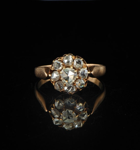 Victorian .65 Ct Dutch rose cut diamond ring