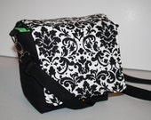 Womens Camera Bag  Womens Coozy purse insert New Damask