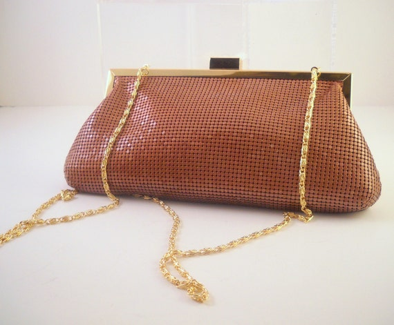 Bronze Metal Mesh Clutch or Shoulder Purse. Not too formal. Great for evening or casual