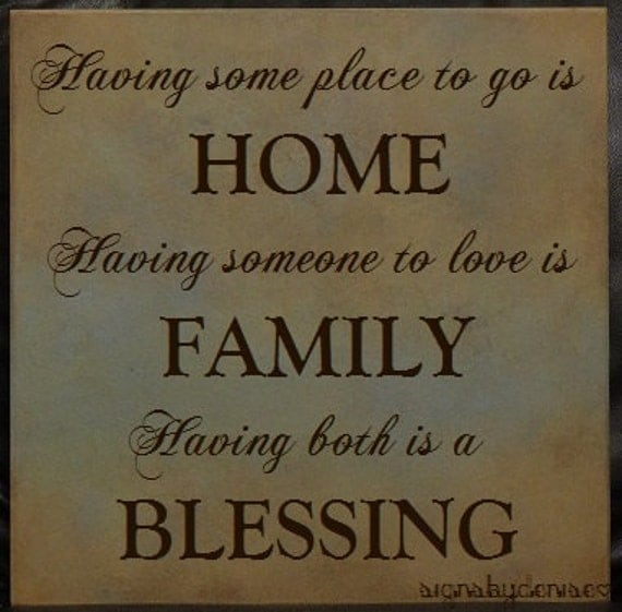 HOME-FAMILY-BLESSING Inspirational Sign
