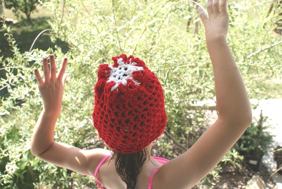 Red Sock Hat, Kids Beanie, Crochet Hat, Winter Cap, Child Christmas Hat, Sock Cap, Teen Beanie, Winter Hat, Kids Accessories
