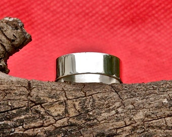 Sterling  Silver Band with mirror finish
